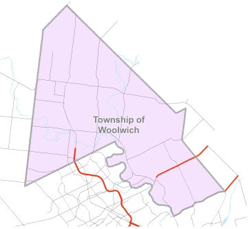 Map of Woolwich Township