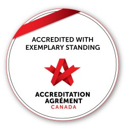 Accreditation seal from Accreditation Canada