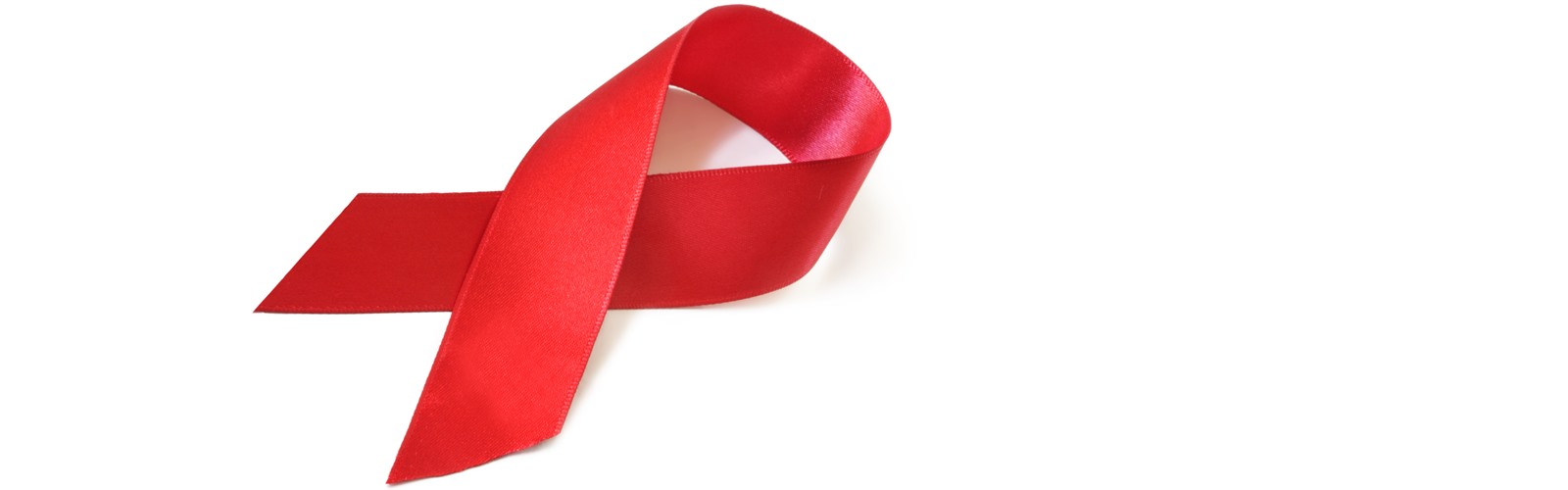 Red ribbon for HIV awareness