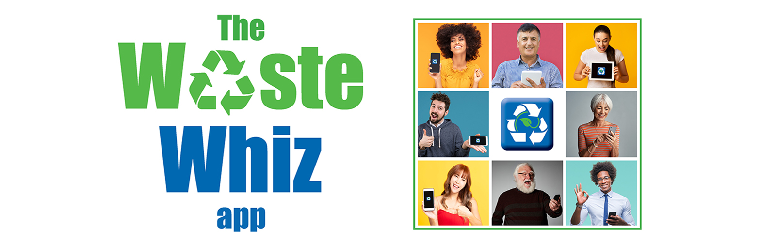 Group of people using the Waste Whiz app