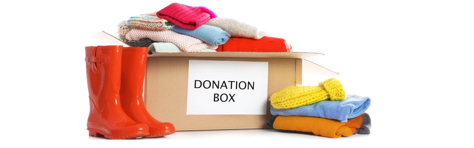 Donation box full of clothing
