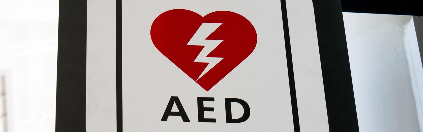 Sign for automatic external defibrillator