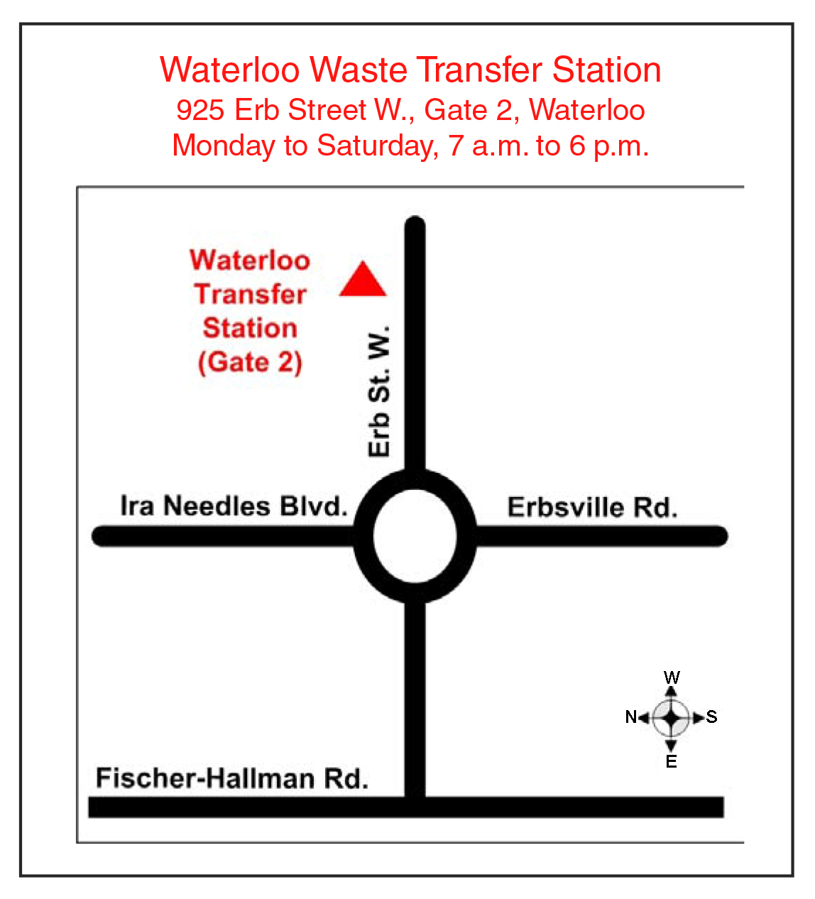 Map of Waterloo landfill site