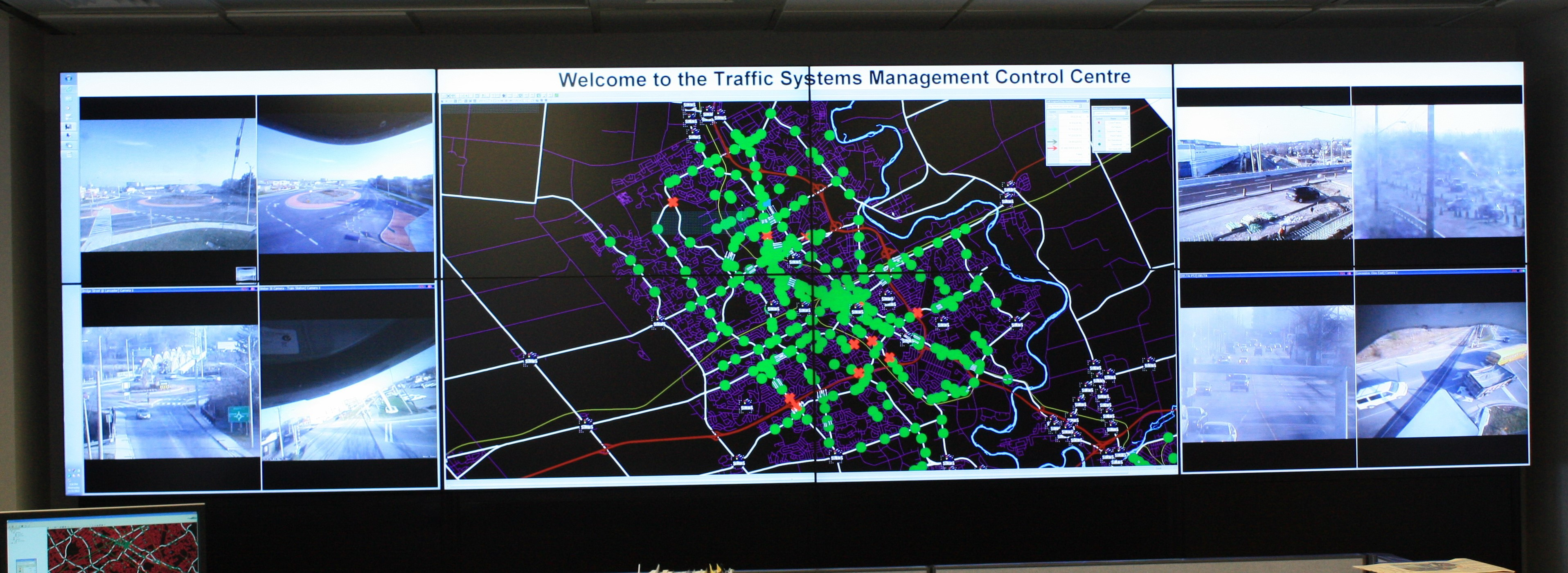 Traffic Control Centre Monitors