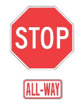 All Way Stop sign
