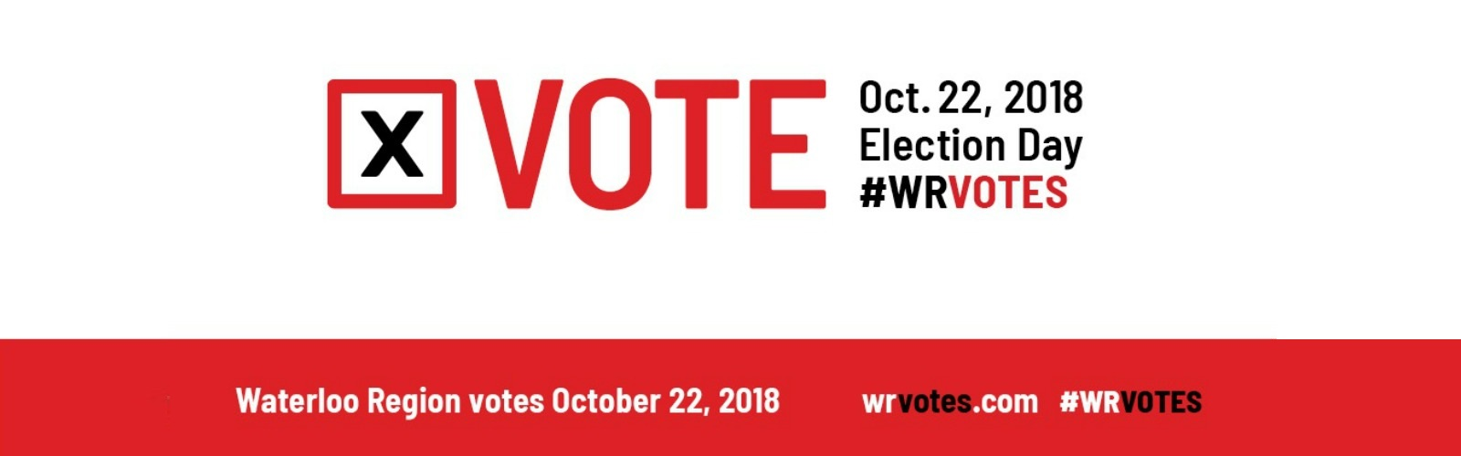 Vote in the October 22, 2018 municipal election in Waterloo Region