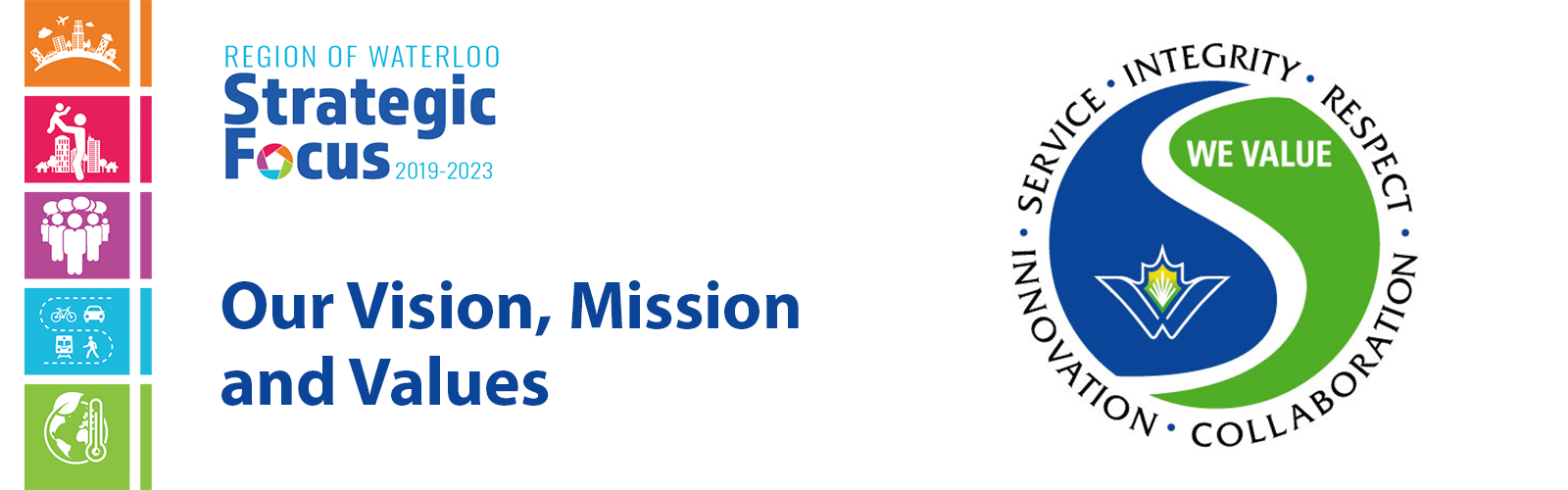 Vision mission and values banner
