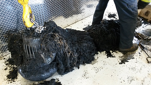 what happens to wipes and other non-flushables at the wastewater treatment plant