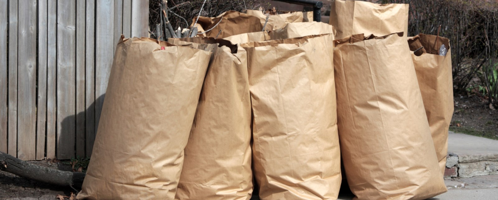Picture of yard waste bags